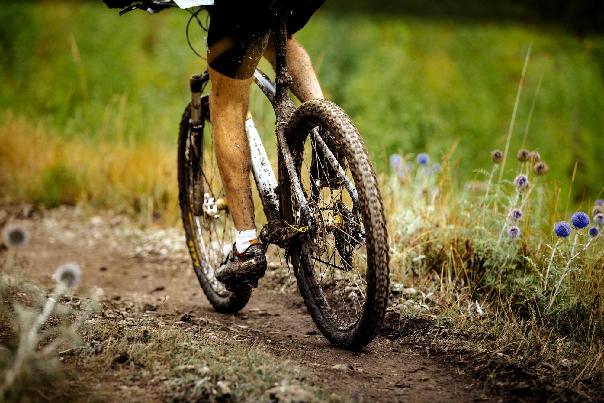 dirty feet athlete sports cyclist
